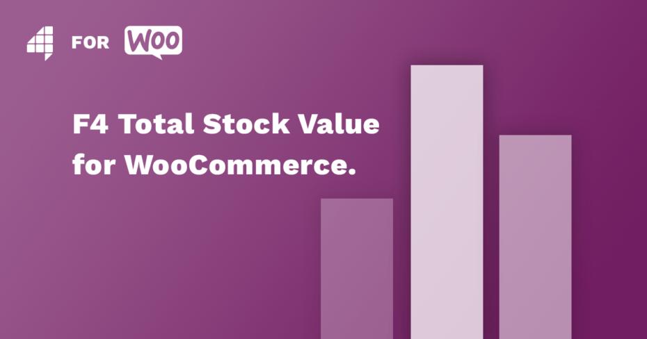 Umriss einer Statistik mit Schriftzug F4 Total Stock Value for WooCommerce