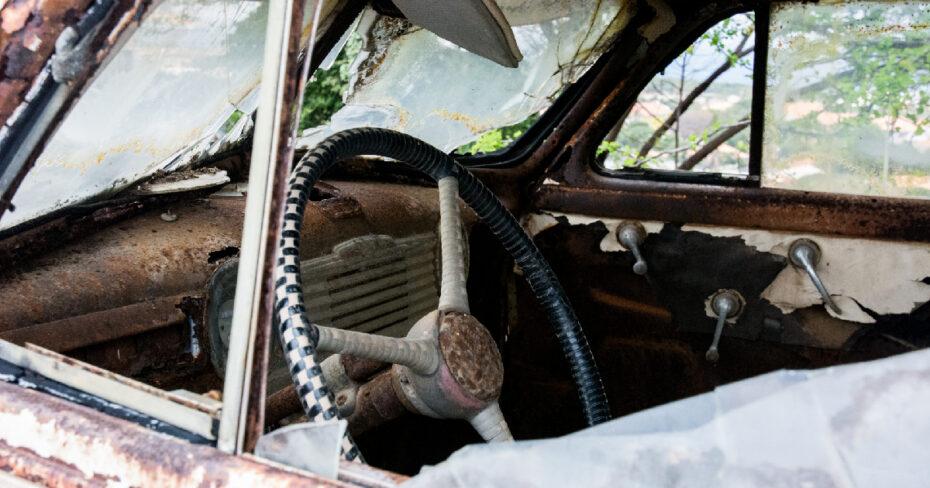 Altes Auto Interieur