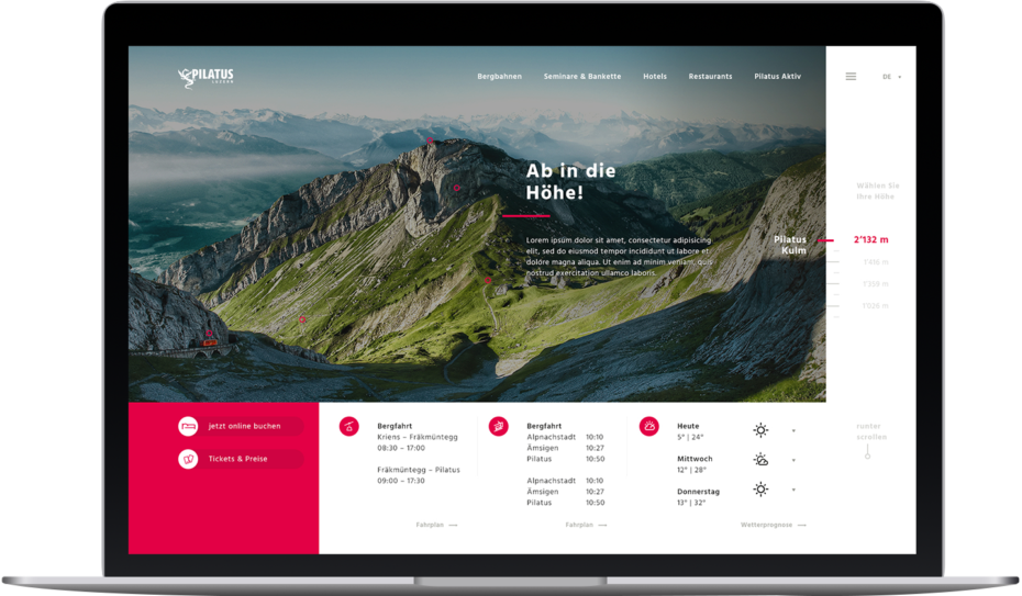 Pilatus Redesign Konzept – Simulation